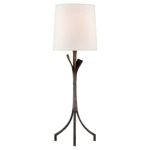 Fliana Aged Iron with Linen Shade Table Lamp