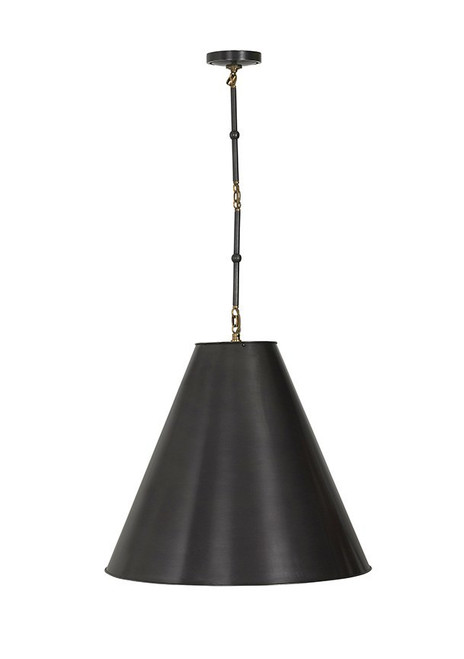 Goodman Cone Gunmetal Shade Chain Pendant Light