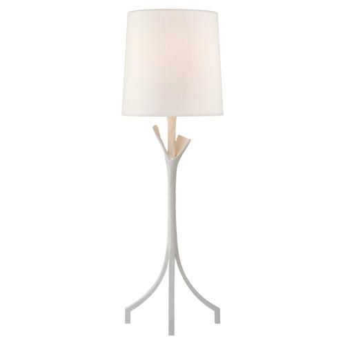 Fliana Plaster White with Linen Shade Table Lamp