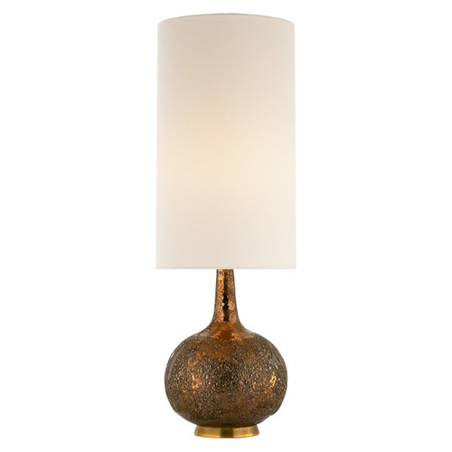 Hunlen Chalk Burnt Gold with Linen Shade Table Lamp