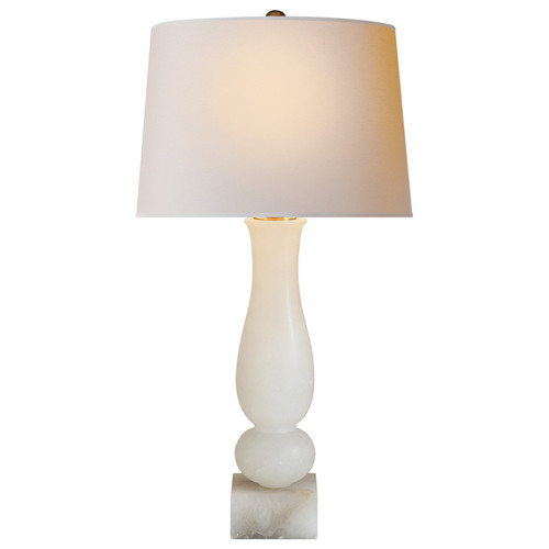 Balustrade Contemporary Natural Paper Shade Alabaster Table Lamp