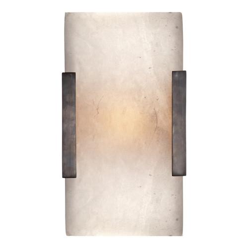 Covet Wide Bronze Clip Bath Wall Sconce