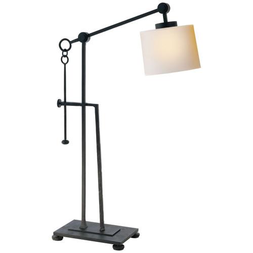 Aspen Forged Iron Black Rustic Adjustable Table Lamp
