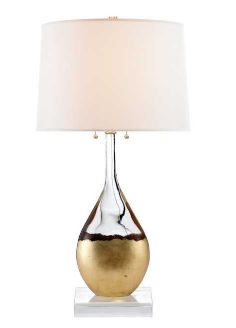 Juliette Crystal Gilded Empire Shade Table Lamp