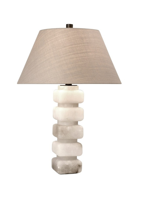 Stacked Alabaster Empire Shade Table Lamp