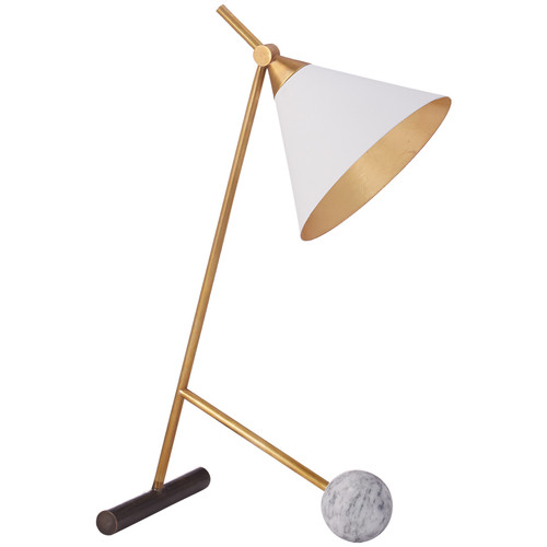 Cleo Geometric Bronze and Antique Brass Table Lamp