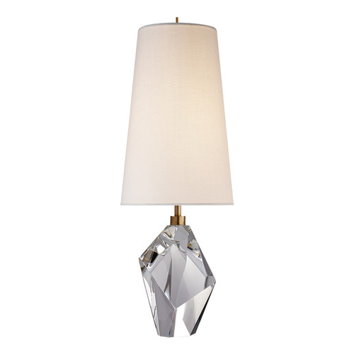Halcyon Crystal with Linen Shade Accent Table Lamp