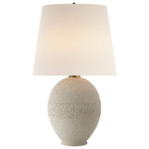 Toulon Volcanic Ivory with Linen Shade Table Lamp