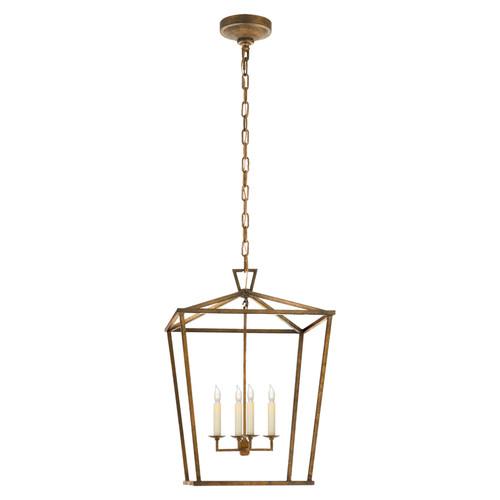 Darlana Medium Gilded Iron Lantern Pendant Light