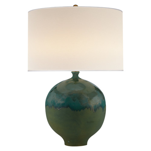 Gaios Volcanic Verdi with Linen Shade Table Lamp