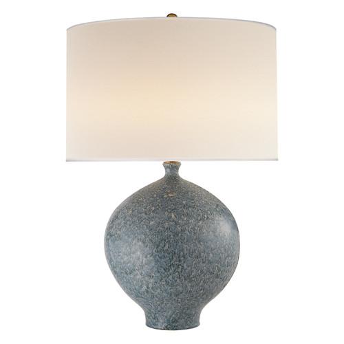 Gaios Blue Lagoon with Linen Shade Table Lamp