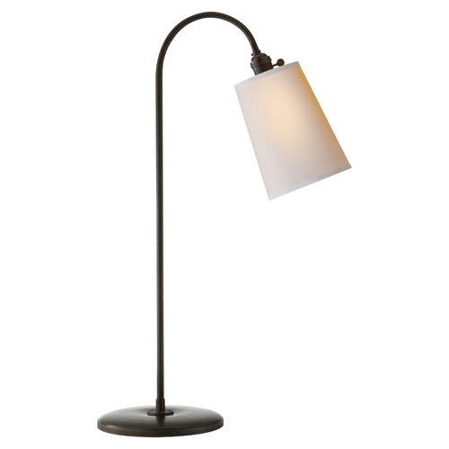 Mia Aged Iron with Natural Paper Shade Table Lamp