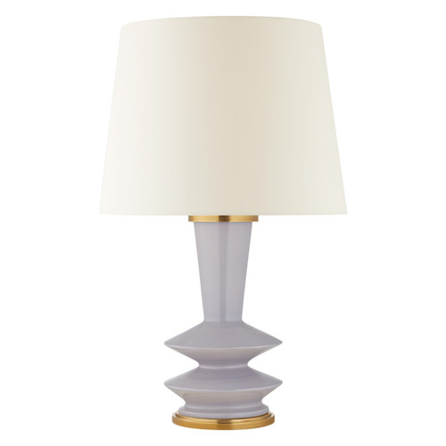 Whittaker Medium Lilac Ceramic with Linen Shade Table Lamp