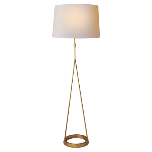 Dauphine Round Base Gilded Iron Floor Lamp