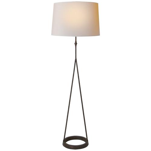 Dauphine Round Base Aged Iron Floor Lamp