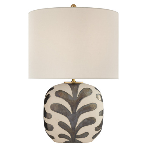 Parkwood Medium Natural Bisque & Black Pearl with Linen Shade Table Lamp