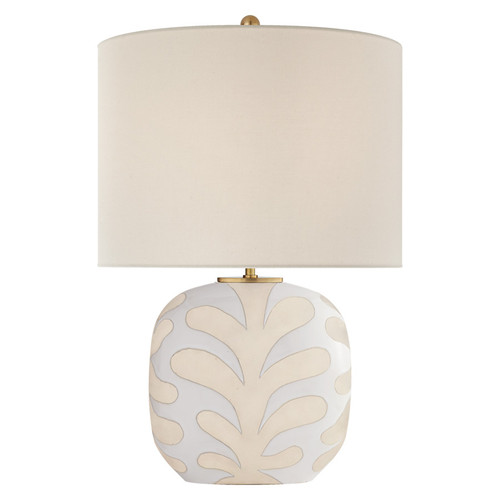 Parkwood Medium Natural Bisque & New White with Linen Shade Table Lamp