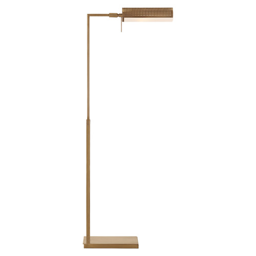 Precision Pharmacy Antique Brass with White Glass Floor Lamp