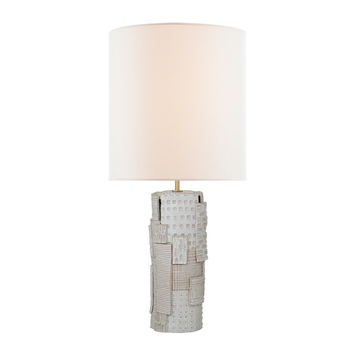 Pastiche Large Ivory with Linen Shade Table Lamp