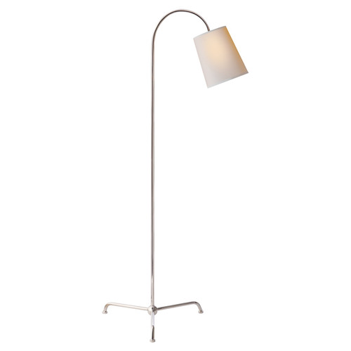 Mia Natural Paper Shade with Polished Nickel Floor Lamp