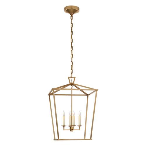 Darlana Medium Antique Brass Lantern Pendant Light