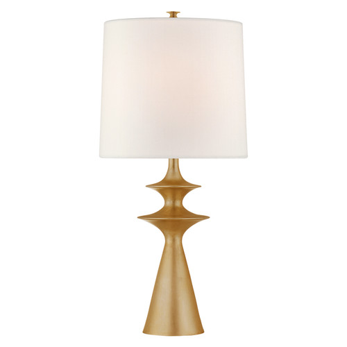 Lakmos Large Gild with Linen Shade Table Lamp