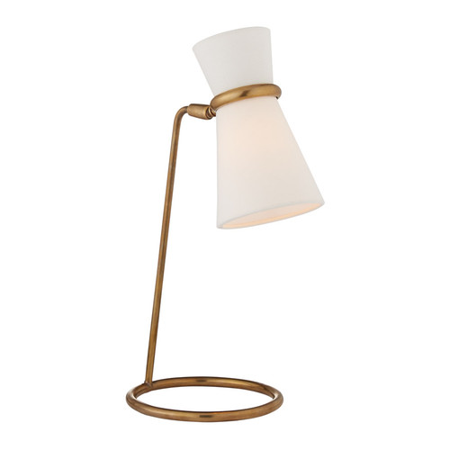 Clarkson Antique Brass with Linen Shade Table Lamp