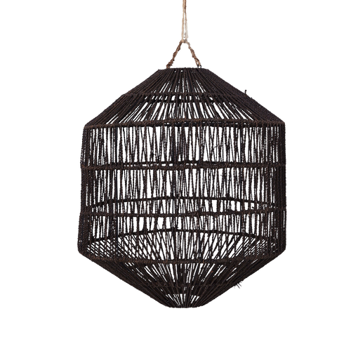 Azin Jute Octagonal Black Pendant Light Shade