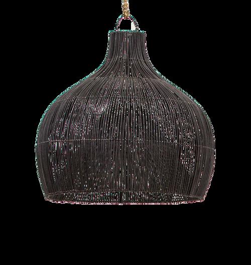 Dari Rattan Oversized Black Pendant Light Shade