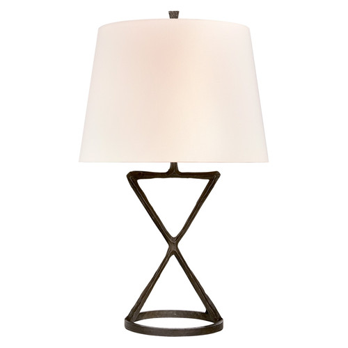 Anneu Aged Iron with Linen Shade Table Lamp