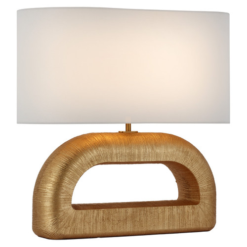Utopia Combed Gild with Linen Shade Console Lamp