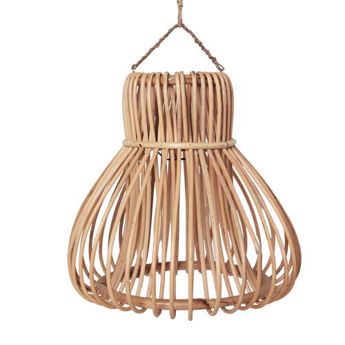 Handwoven Rattan Bell Pendant Light Shade
