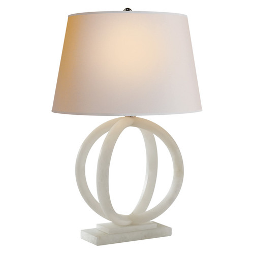 Quattro Alabaster with Natural Paper Shade Table Lamp