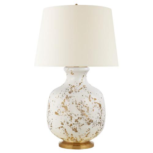 Buatta Large Gold Splatter with Linen Shade Table Light