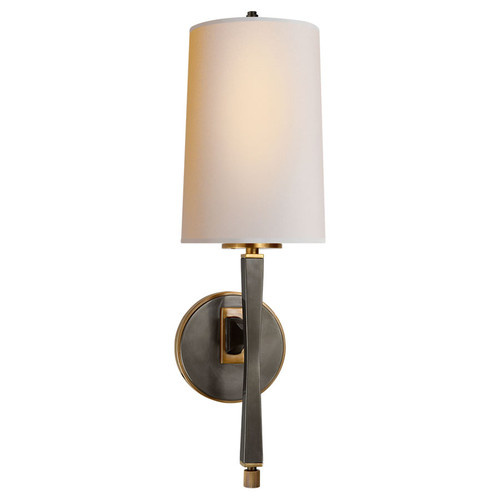 Edie Bronze with Brass with Natural Paper Shade Wall Sconce