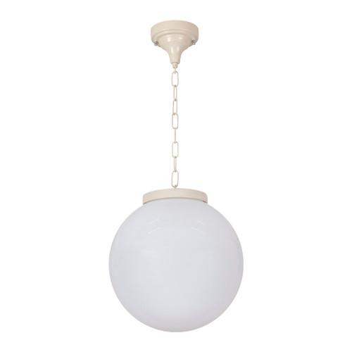 Sorrento Sphere Opal & Beige Acrylic Outdoor Pendant Light -Medium