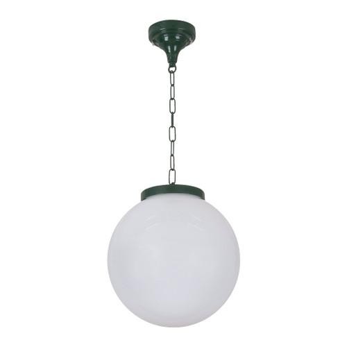 Sorrento Sphere Opal & Green Acrylic Outdoor Pendant Light - Medium
