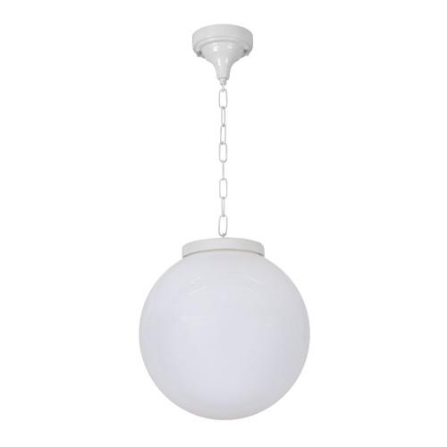 Sorrento Sphere Opal & White Acrylic Outdoor Pendant Light - Medium
