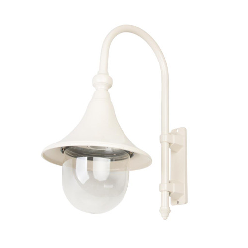 Moldova Moulded Acrylic Beige Curved Arm Outdoor Wall Light