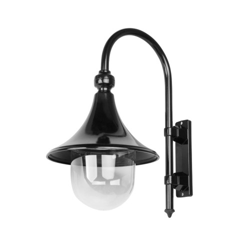 Moldova Moulded Acrylic Black Curved Arm Outdoor Wall Light