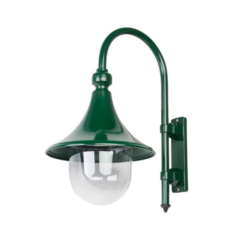 Moldova Moulded Acrylic Green Curved Arm Outdoor Wall Light