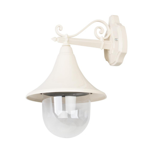 Moldova Moulded Acrylic Beige Straight Arm Outdoor Wall Light