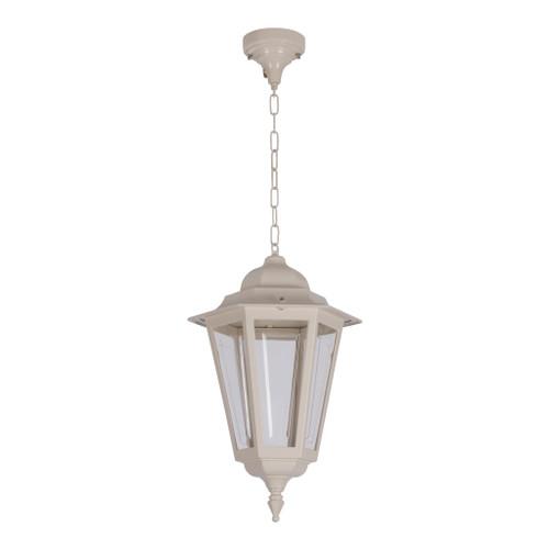 Tortona Acrylic Beige Lantern Outdoor Pendant Light Large