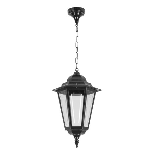 Tortona Acrylic Black Lantern Outdoor Pendant Light - Large