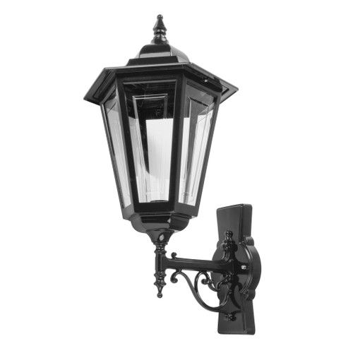 Tortona Acrylic Black Upward Outdoor Lantern Wall Light