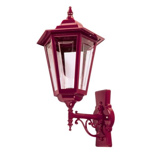 Tortona Acrylic Burgundy Upward Outdoor Lantern Wall Light