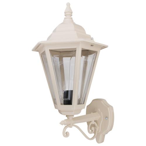 Tortona Acrylic Beige Straight Arm Upward Outdoor Lantern Wall Light