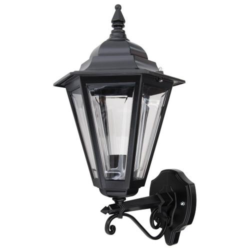 Tortona Acrylic Black Straight Arm Upward Outdoor Lantern Wall Light