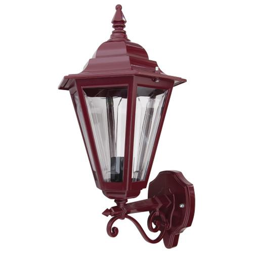 Tortona Acrylic Burgundy Straight Arm Upward Outdoor Lantern Wall Light
