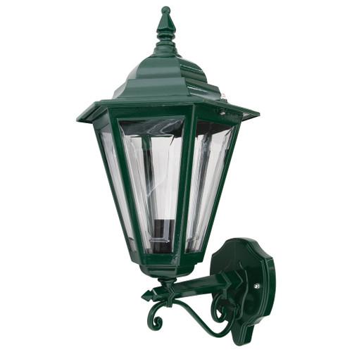 Tortona Acrylic Green Straight Arm Upward Outdoor Lantern Wall Light